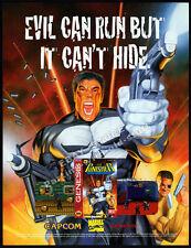 THE PUNISHER__Original 1995 print AD / game promo__Sega Genesis__Capcom__Marvel