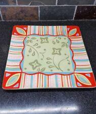 Partylite 10.5inx10.5in Candle Platter (Ceramic) - Multi-colored!