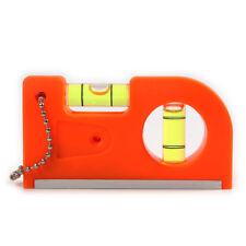 Portable  Mini Key Chain  Orange Pocket Spirit Level with  Magnet V Stripe