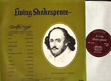 LIVING SHAKESPEARE twelfth night maggie smith/brenda bruce DEOB 12AM LP PS EX/VG