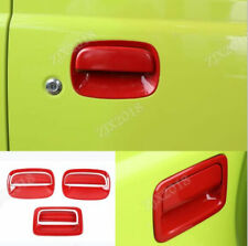 6X Red ABS Car Side & Rear Door Door Handle Bowl Cover For Suzuki Jimny 2019-20