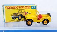 Vtg Matchbox Lesney No. #72 Standard Jeep All Original W/Box Excellent-NM