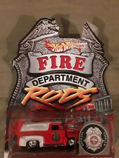 2000 Hot Wheels Fire Department Rods Series #2 '56 Ford Truck Albuquerque NM