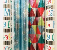 New 6 Rolls Hallmark 30 Sq Ft Roll Premium Foil Christmas Wrapping Paper