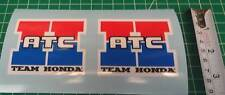 "2x Team ATC Decals Logos Sticker 3"" 250R 350X ATV Big Red 200e 200x 250es"
