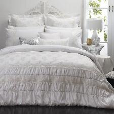 Double Size Bed Duvet Doona Quilt Cover Set TIAMO PEARL Platinum Logan and Mason