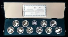 1985- 1988 SILVER CANADA $20 CALGARY OLYMPIC 10 PROOF COIN STERLING SILVER SET