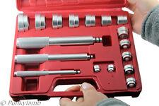 17Pc Aluminium Wheel Bearing Race & Seal Bush Driver Set Car GarageTool Kit