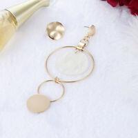 Exaggerated Asymmetric Shell Long Drop Dangle Earrings Stud Women Jewelry Hot