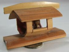 Vintage Kitsch Bamboo Roof House Boat w/ 2 people Assume Japanese Marked foreign