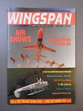 R&L Mag: Wingspan May 1989 F86 Sabre/Hawker Harrier/Swissair/Vickers Valiant
