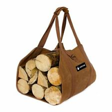 New Anting Waxed Canvas Firewood Log Carrier Tote Bag Holder Padded Handle