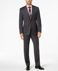 Lauren Ralph Lauren UltraFlex Black Grey Birdseye Suit Mens 38L 32 x 32 $600