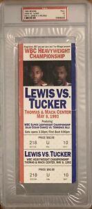 Lennox Lewis vs Tucker Fight FULL Ticket Stub Julio Cesar Chavez (PSA)