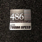 "486 Vintage Computer PC Case Badge Logo Label Decal Sticker 1x1"" 483"