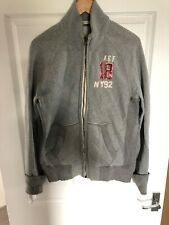 MENS ABERCROMBIE & FITCH GREY SWEAT ZIP UP JACKET XL
