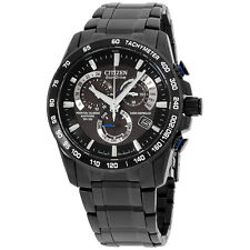 Citizen Perpetual Chrono A-T Black Stainless Steel Men's Watch AT4007-54E