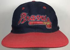 Vintage Atlanta Braves Logo Catch The Fever SnapBack Wool Cap Hat The Game