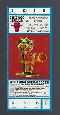 1994-1995 NBA SPURS @ CHICAGO BULLS UNUSED TICKET - MICHAEL JORDAN - JAN 24