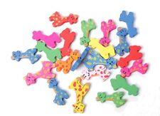 50PCS Mixed Colours Wooden Giraffe Beads