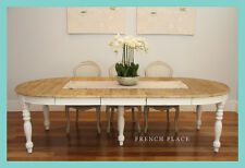 *USED* French Provincial Hamptons Style Reclaimed Timber Extension Dining Table