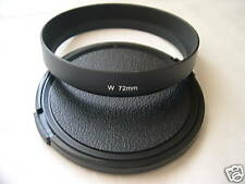 New Metal Wide Angle 72mm Screw-in Lens Hood + Cap