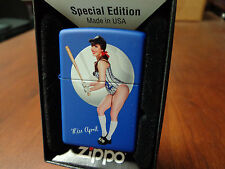 PINUP GIRL SEXY CLAIRE SINCLAIR MISS APRIL BASEBALL ZIPPO LIGHTER MINT IN BOX