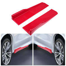 2pcs Universal Red Car Side Skirt Rocker Splitters Lip Diffuser Winglet Body Kit