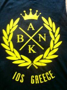 IOS GREEK ISLAND. GREECE STAR WARS B.A.N.K  MUSCLE TANK SINGLET SOUVENIR MEN L