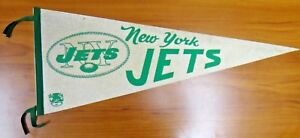 Vintage Original 1960's New York Jets Football Pennant 29.5""