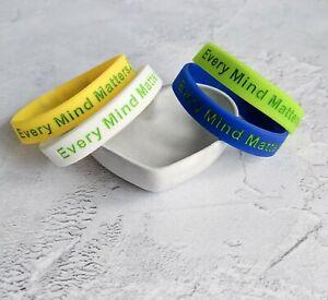 (X2) EVERY MIND MATTERS Awareness Bracelets Wristband Every Mind Matters