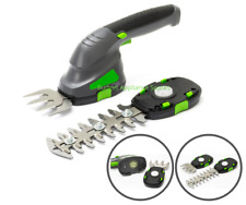Cordless Garden Hedge Trimmer Grass Shear + Blades  2-in-1 Rechargeable Battery