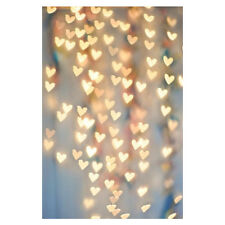 Photography Christmas Thin Backdrop Lights Hearts Photo Prop Background 5x7ft BT