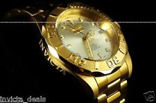Invicta Men Pro Diver 24 Jewels 18K Gold Plated Automatic SS Champagne Watch