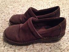 Womens Born b.o.c. Peggy Clog Shoe Brown Leather US 10 Med EU 42 BC4379 Corduroy