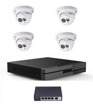 4 x IP Kamera Foscam Fi9853EP PoE HD IP Kamera + Netzwerkrekorder + PoE Switch