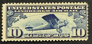 Travelstamps: 1927 US Stamps Scott #C10, Lindbergh Tribute Issue, mint, OG, LH