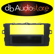 MA/348 Mascherina Autoradio 1 2 DIN Toyota Auris Nero Adattatore Cornice Radio