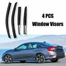 4Pcs Window Sun Rain Visors Guard Wind Deflector For 2016-2019 Honda Civic Sedan (Fits: Honda)