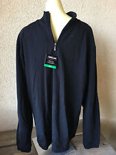 Kirkland Mens Cotton Black Pullover Zip XL Sweatshirt Sweat Shirt New NWT