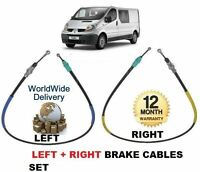 FOR RENAULT TRAFIC VAN X83  2001--> NEW LEFT + RIGHT SIDE HAND BRAKE CABLE SET