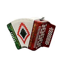 Baronelli Full Size 31 Button 12 Bass Accordion, GCF, Red/White/Green