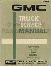 1972 GMC Truck Shop Manual 72 Pickup Sierra Jimmy Suburban Repair Service Grande