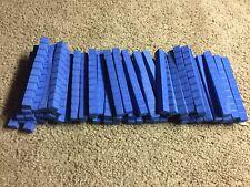 Foam Base lot of 62 BLUE Math Manipulative Foam 10 Blocks-Free Shipping! (K)