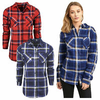 Womens Brave Soul Designer Long Sleeve Flannel check Shirt