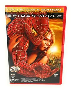 Spider Man 2 (DVD 2004) Collectors Edition 2 Disc Set Tobey Maguire R4 Free Post