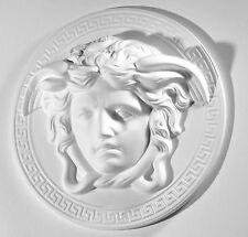 Medusa Relief Kopf Wandrelief Wanddeko Ornament weiß Stuck (20 cm)