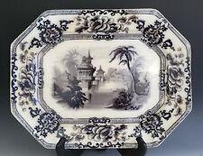 "New listing Antique Ironstone Staffordshire Davenport Mulberry Cyprus 18"" Platter Flow"