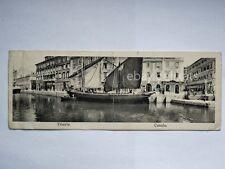 TRIESTE Canale barca vela veliero vecchia cartolina mignon panoramico
