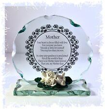 Poema Madre Regalo Mamá presentes Placa De Cristal Tallado inusual ocasión Placa #8